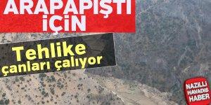 Arapapıştı Kanyonu'nda su seviyesi azaldı