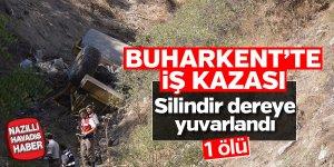 Buharkent'te iş kazası; 1 ölü