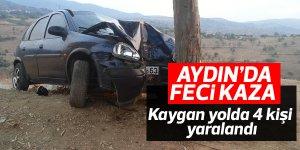 Kayganlaşan yol kaza getirdi: 4 yaralı