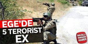 Ege'de 5 terorist öldürüldü