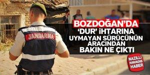 Bozdoğan'da 'Dur' ihtarına uymayan sürücü yakalandı