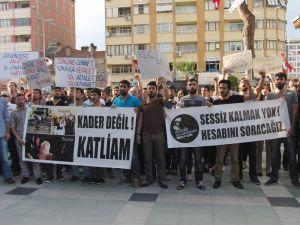 ÜNİVERSİTE ÖĞRENCİLERİ 'SOMA' İÇİN YÜRÜDÜ