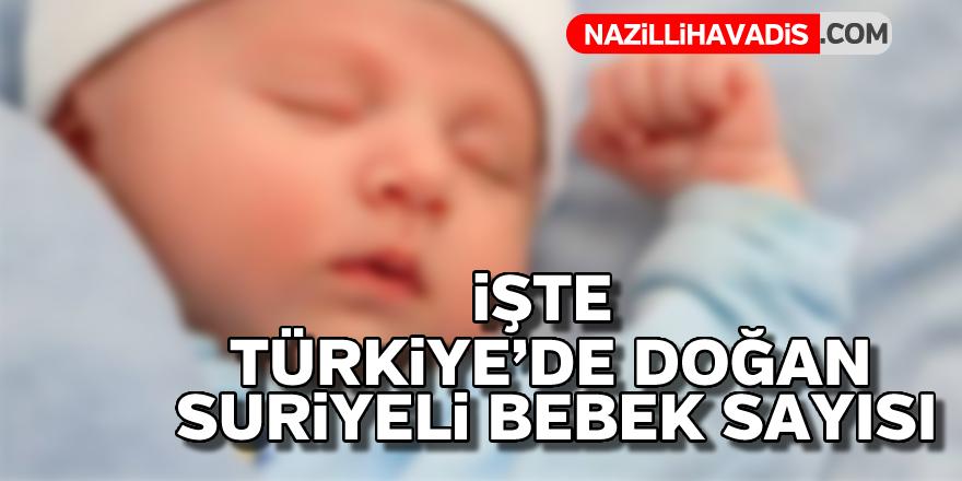 İşte Türkiye'de doğan Suriyeli bebek sayısı