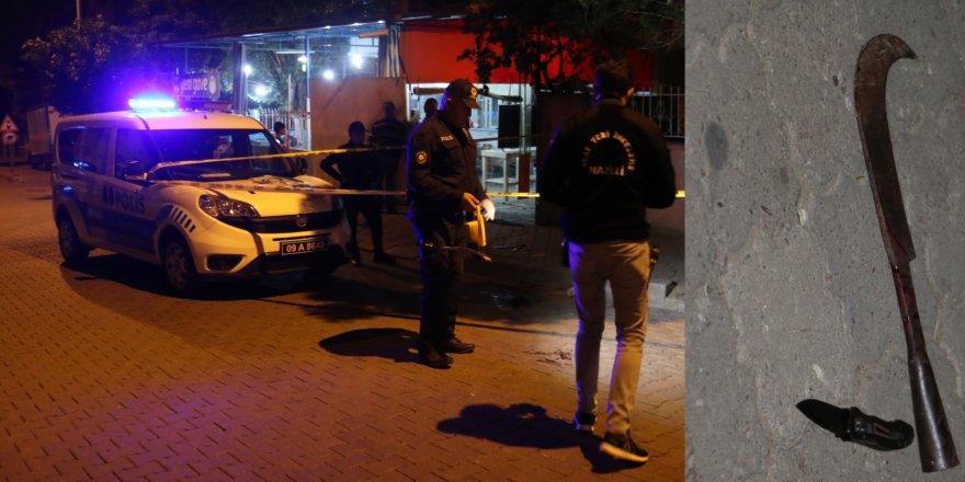 Nazilli'de oraklı-bıçaklı kavga : 2 yaralı