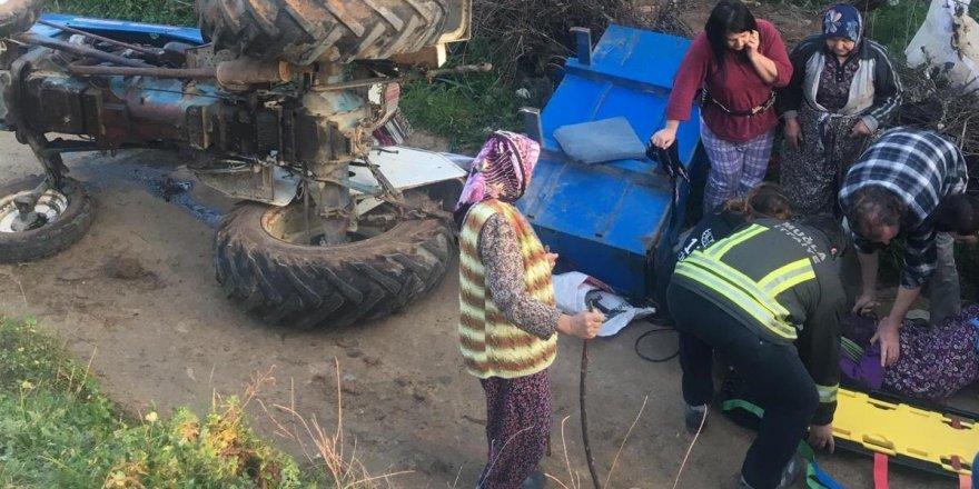 Muğla'da traktör devrildi: 1 ölü, 1 yaralı