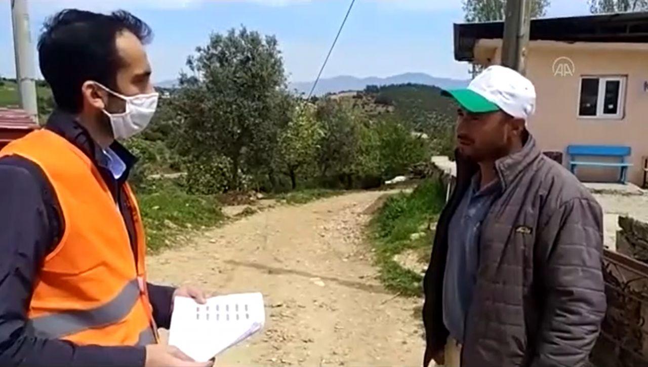 Aydın'da yardım parası vermek için gelenleri geri çevirdi
