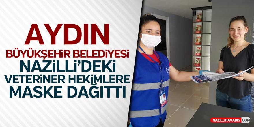 Aydın Büyükşehir Nazilli'deki Veteriner Hekimlere Maske Dağıttı