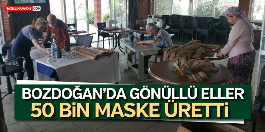 Bozdoğan'da Belediye ve Gönüllü Eller 50 Bin Maske Üretti