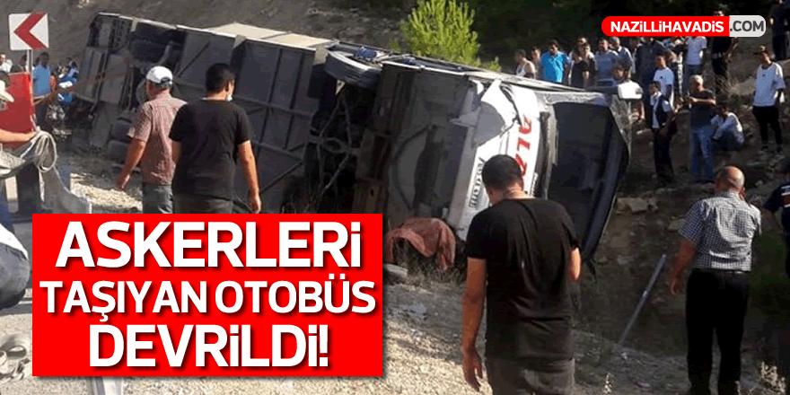 Askerleri taşıyan otobüs devrildi: 5 şehit, 10 yaralı