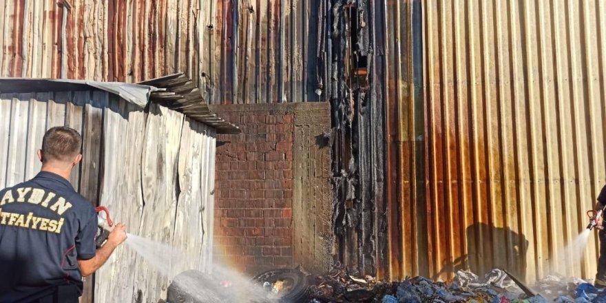 Nazilli'de çöplük yangını panik yarattı