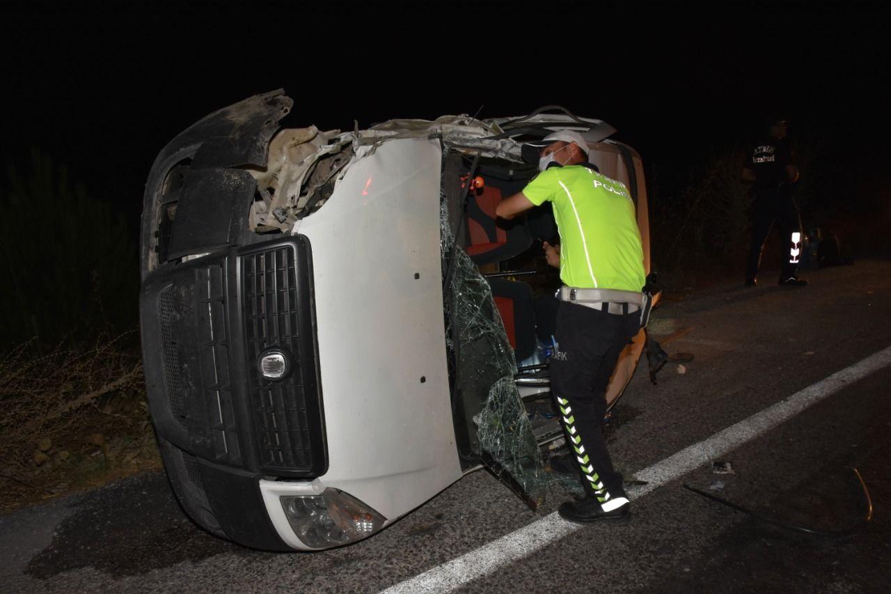 Aydın'da feci kaza; 1 yaralı
