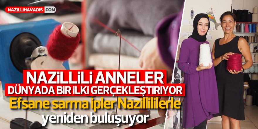 Nazilli'de anne eli değmiş ipler yok satıyor