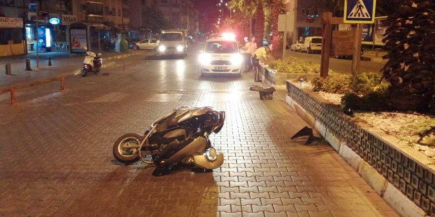 Nazilli'de motosiklet kazası... Ölümden döndü