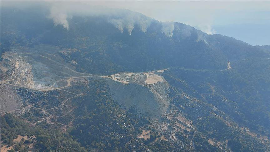 Aydın'da başlayıp Muğla'da söndürülen orman yangınıyla ilgili 2 gözaltı