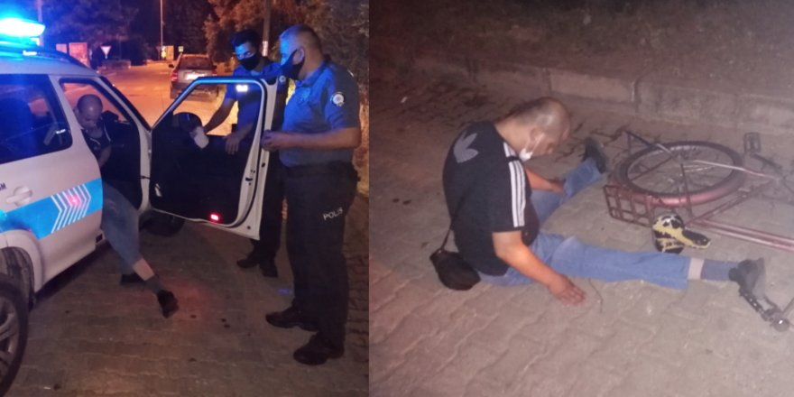 Bacak protezi yerinden çıktı... Yardımına polis koştu