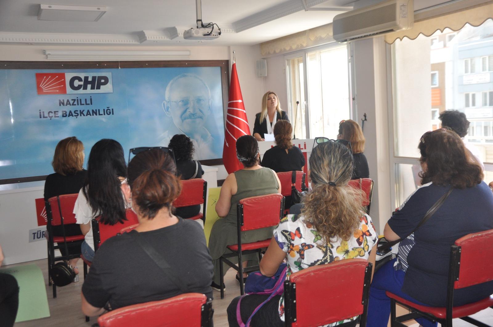 CHP'li Nazillili kadınlar, 'İstanbul sözleşmesi yaşatır'