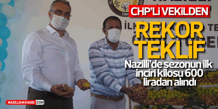 Nazilli'de sezonun ilk inciri kilosu 600 liradan alındı