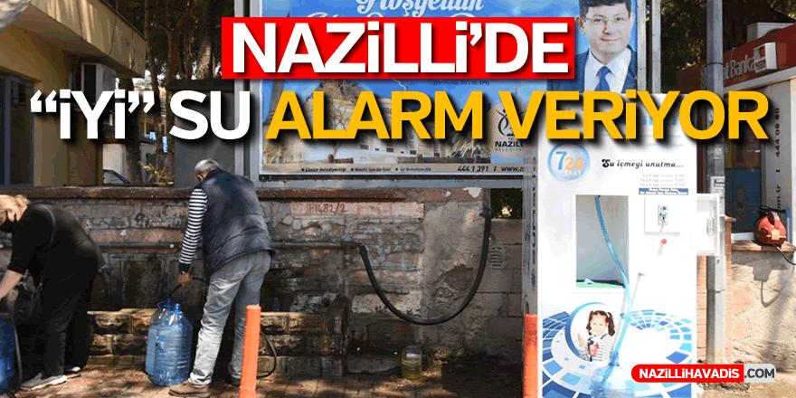 """Nazilli'de """"iyi"""" su alarm veriyor"""