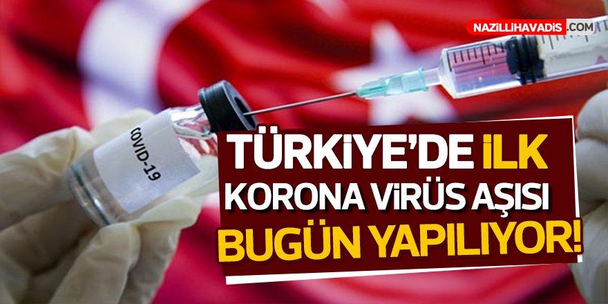 Türkiye'de ilk koronavirüs aşısı bugün yapılıyor