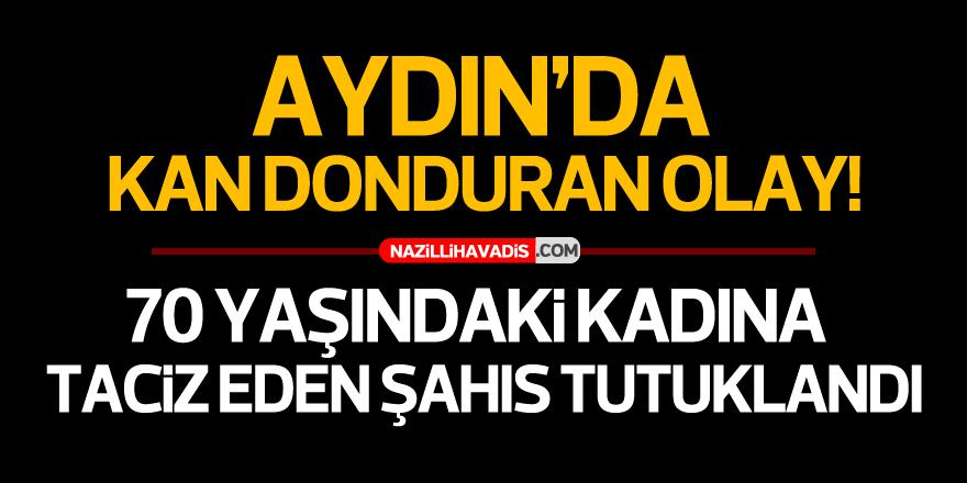AYDIN'DA YAŞLI KADINA TACİZ EDEN ŞAHIS TUTUKLANDI