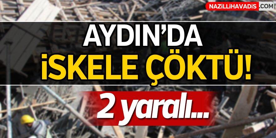 Aydın'da İnşaat  iskelesi Çöktü!