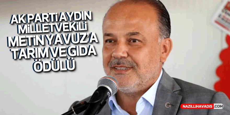 AK Parti Aydın Milletvekili Yavuz'a tarım ve gıda ödülü