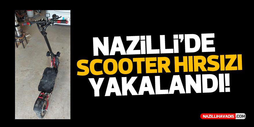 NAZİLLİ'DE SCOOTER TARZI ELEKTRİKLİ BİSİKLETİ ÇALAN HIRSIZ YAKALANDI