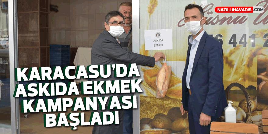 Karacasu'da askıda ekmek kampanyası başladı