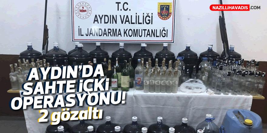 Aydın'da sahte içki ürettiği öne sürülen 2 kişi gözaltına alındı
