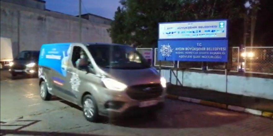 Aydın'dan İzmir'e Büyükşehir ekipleri seferber edildi