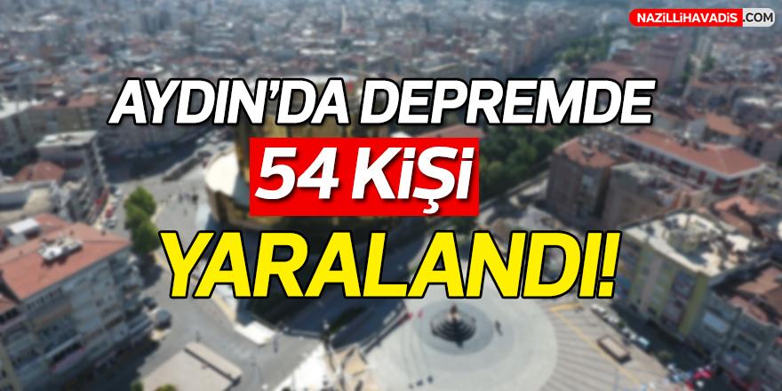 Aydın'da depremde 54 kişi yaralandı