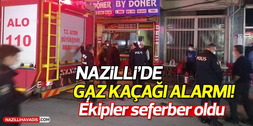 Nazilli'de gaz kaçağı alarmı!