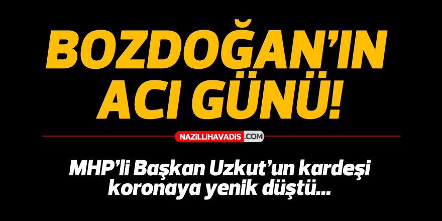 MHP'li Başkan Uzkut'un kardeşi koronaya yenik düştü
