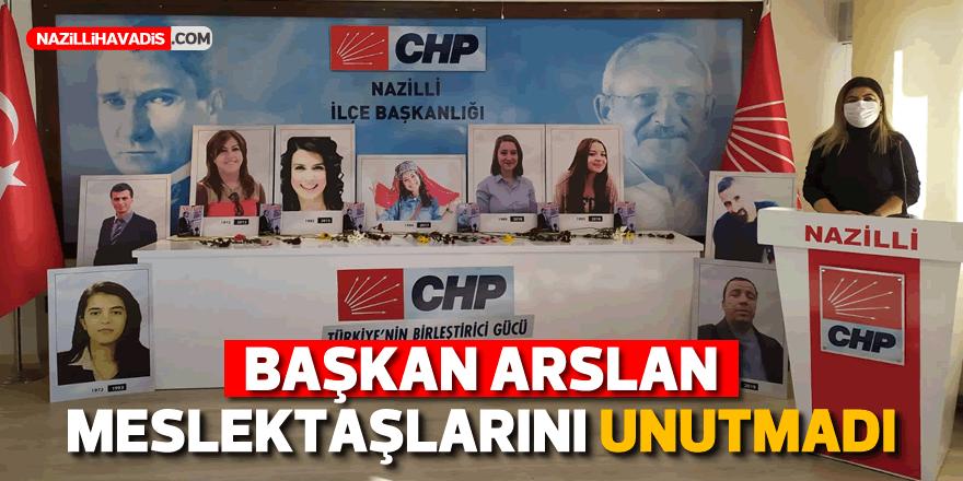 Başkan Arslan meslektaşlarını unutmadı