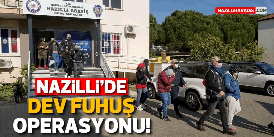 Nazilli''de fuhuş operasyonu: 11 kişi yakalandı