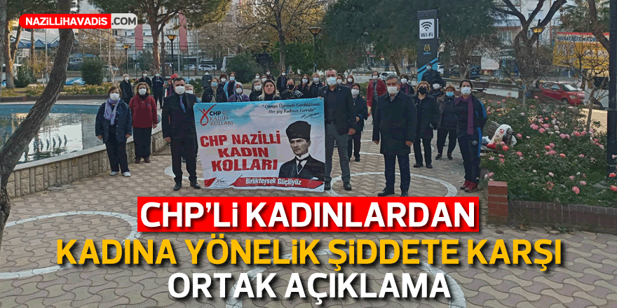 CHP'li kadınlardan kadına yönelik şiddete karşı ortak açıklama