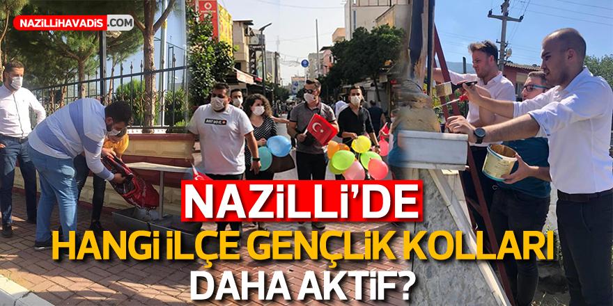 Nazilli'de hangi ilçe gençlik kolları daha aktif?