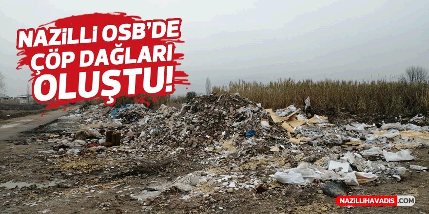 Nazilli OSB'de çöp dağları oluştu
