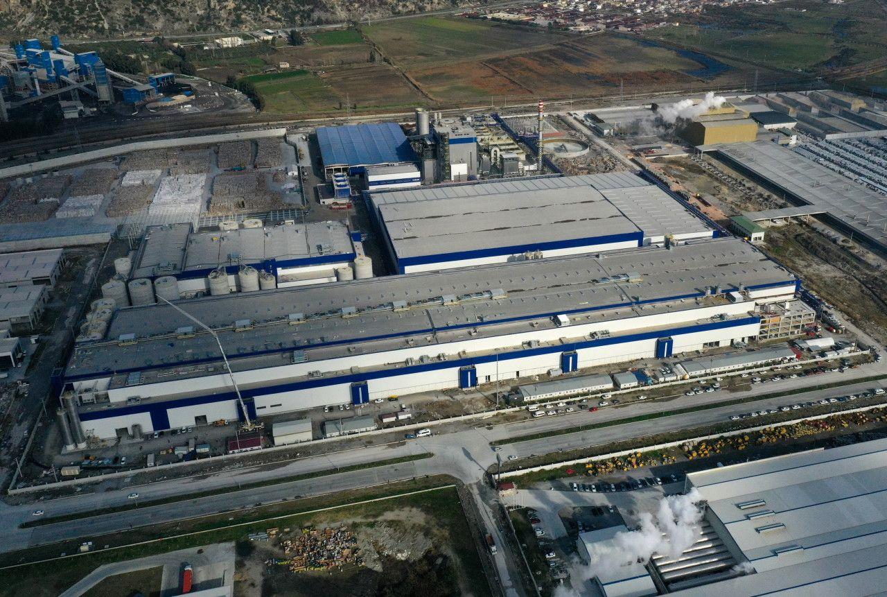 """Aydın'a kurulan """"dev kağıt fabrikası"""" üretim için gün sayıyor"""