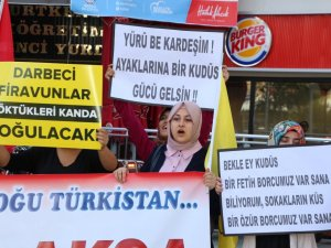 Nazilli'de Mescid-i Aksa'ya Saldırı Protestosu