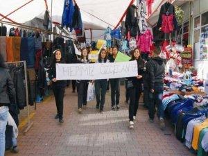 Liseliler 'Özgecan Cinayeti'ni protesto etti