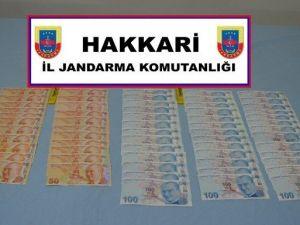 Jandarma Semdinli'de Sahte Para Ele Geçirdi