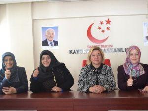 SP Kayseri Kadın Gençlik Kolları Başkanı Sümeyye Olgun: