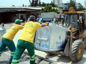 Akdeniz Belediyesi Çöp Konteynerlerini Yeniliyor