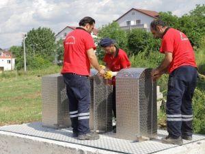 Başiskele'de Yer Altı Çöp Konteynerleri Artıyor