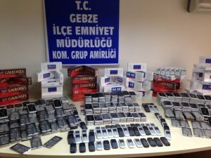Kocaeli'de 2 Bin 156 Adet Kaçak Telefon Ele Geçirildi