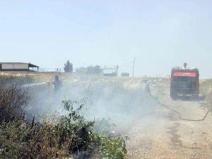 Gaziantep'te Yüzlerce Dönümlük Ekili Arazinin Yanması Önlendi