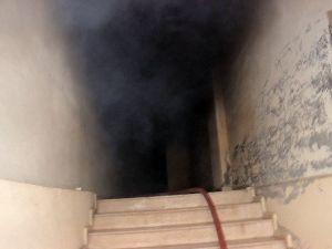 Bodrum Katta Yangın Apartman Sakinlerini Korkuttu