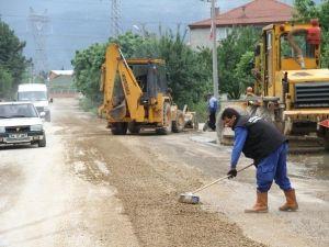 Kuzuluk Mahallesinde Alt Yapı Çalışmaları Devam Ediyor