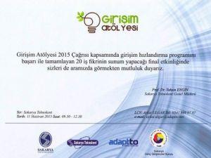 Girişimcilik Atölyesi Final Etkinliği SAÜ'de Gerçekleşecek